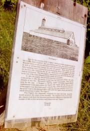 "Photo and plaque in the Arboretum describing ""The Piggery"" (2002)"