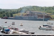 Navy Ship in Bucksport Harbor (2002)