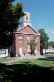 Original North Yarmouth Academy building in Yarmouth (2002)