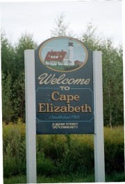 Sign: Welcome to Cape Elizabeth (2002)