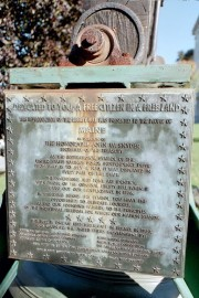 Plaque on the Reproduction of the Liberty Bell (2001)