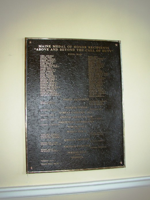 Plaque of Congressional Medal of Honor Winners in the State House (2003)