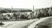 Waldo-Hancock Bridge from Fort Knox (c. 1936)