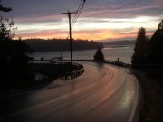 Orrs Island Bridge from Great Island in Harpswell at Sunset (2003)