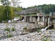 Pedestrian Bridge over a dam on the Saco River between Buxton and Hollis (2003)