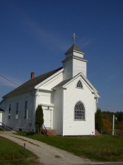 Church on the north side of Route 175 (2003)