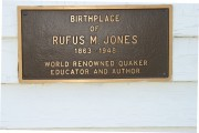 Plaque at Rufus Jones Birthplace (2004)