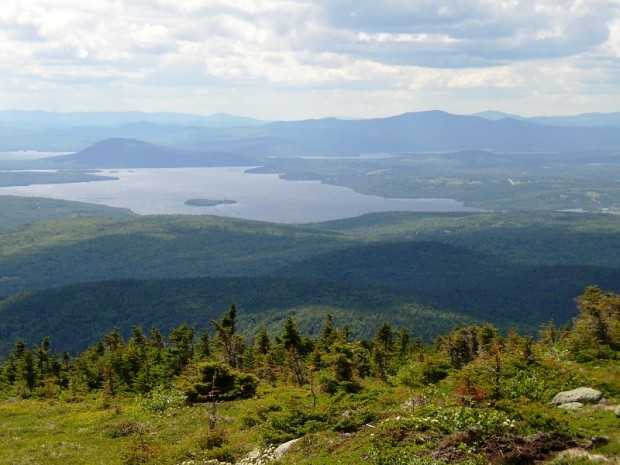 Rangeley Lake from Saddleback Mountain, Bald Mountain at Left in Distance (2004)