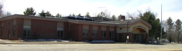 Former Elementary School now Town Office and Community Center (2004 photo)