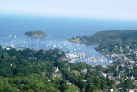Camden Harbor from Mount Battie (2004)