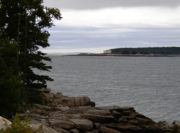 Winter Harbor Light from Moore Road on Schoodic Peninsular (2004)