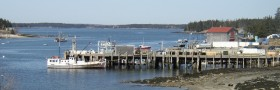 Boats and Wharf at Port Clyde in St. George (2005)