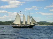 Schooner on Penobscot Bay (July 2007)