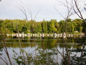 Marina for small boats on the Kennebec River in Pittston (2005)