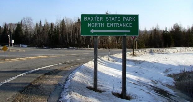 Sign: Baxter Park Directions (2006)