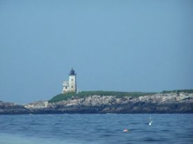 Two Bush Island Light in Two Bush Channel about five miles east of Tenant's Harbor (2006)