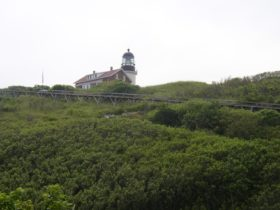 Seguin Island Light and the tramway that brought supplies to the lighthouse (2006)