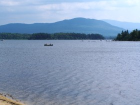Attean Mountain from a beach on the north shore of Attean Pond (2006)