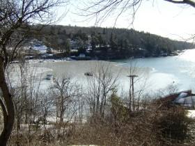 Rockport Harbor partially icebound (2007)