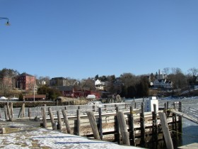 Rockport Harbor and surrounding buildings (2007)