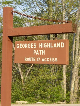 "Sign: ""Georges Highland Path, Route 17 Access"" (2007)"