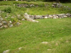 Stone Outlines of Walls of Fort Pownall (2007)