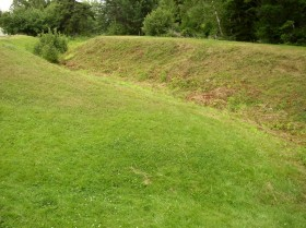 Remains of Earthworks at Fort Pownall (2007)