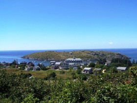 Monhegan village and Manana Island (2007)