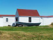 Monhegan Museum with dory on exhibit (2007)