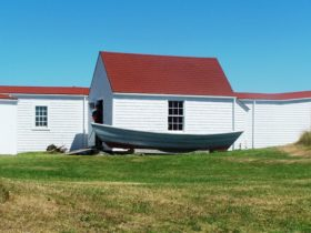 Monhegan Museum with Dory (2007)