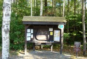 Information Board at Grafton Notch State Park Trail Lot on Route 26 (2007)