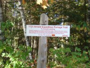 Sign Marking the Portage Across the Great Carrying Place (2007)