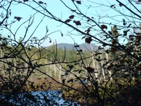 Mountain and stream from the Troutdale Road (2007)