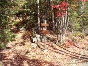 Southbound Appalachian Trail Crossing at Moxie Pond (October 2007)