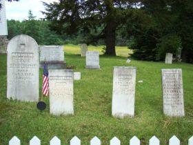 Cemetery near the West Brooksville Congregational Church