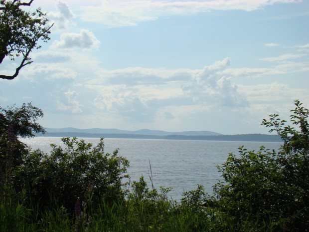 Islesboro and the Camden Hills from Harborside (2008)