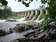 Seboomook Dam beginning of the West Branch