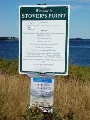 "sign: ""Welcome to Stover's Point, . . . ."" (2009)"