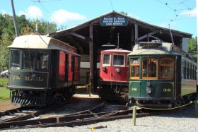 Trolleys at the Seashore Trolley Museum (2009)