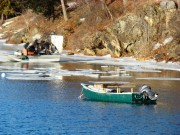 Quahog fishermen on the New Meadows River (2010)