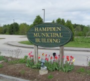 Sign: Hampden Municipal Building (2010)