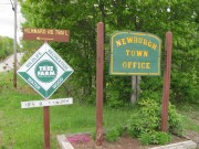 Sign: Newburgh Town Office (2010)
