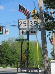Intersection of routes 25 and 35 (2010)