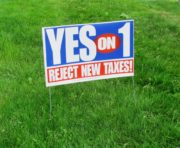 Anti-Tax Peoples Veto sign (June 2010)