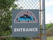 Sign for Florida Power and Light's Brunswick Fishway (2010)