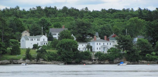 Woolwich Shore on the Kennebec River from Thorne Head in North Bath (2010)