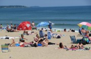 Bathers at Old Orchard Beach on Saco Bay (June 2010)
