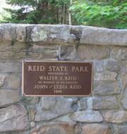 """Plaque: """"Reid State Park"""" (2010)"""