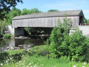 Low's covered bridge over the Piscataquis River in Guilford (2010)