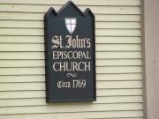 "sign: ""St. Johns Episcopal Church, Circa 1969"" (2010)"